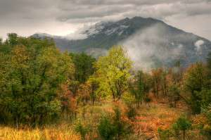 "John Telford, Gathering Storm, Mt. Timpanogos, Archival pigment print, 14 x 21"", courtesy of the artist."