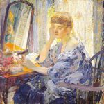 Richard Emile Miller, Reflections, c1910, oil on canvas, 36 x 236 inches.