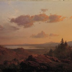 "Frederic Edwin Church, ""View of the Hudson River Valley from Olana,"" 1865."