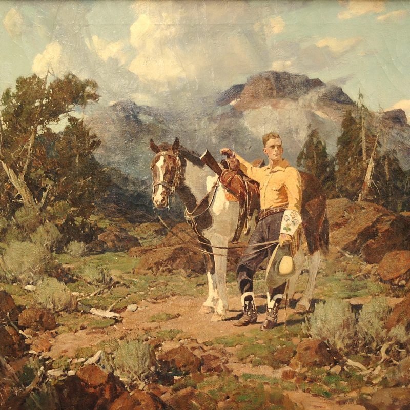 "Frank Tenny Johnson ""Fred Tunnel and Horse in the Tetons"""