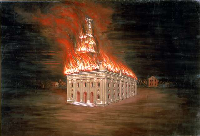 "C.C.A. Christensen ""Burning of the Temple"""