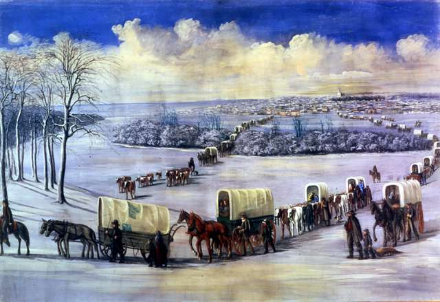 """C.C.A. Christensen """"Crossing the Mississippi on the Ice"""""""
