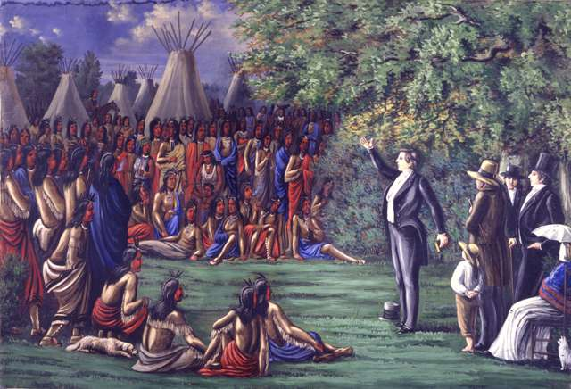 "C.C.A. Christensen ""Joseph Preaching to the Indians"""