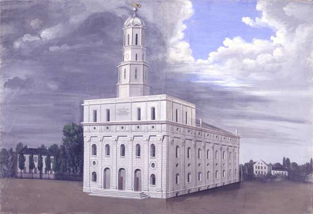 "C.C.A. Christensen ""The Nauvoo Temple"""