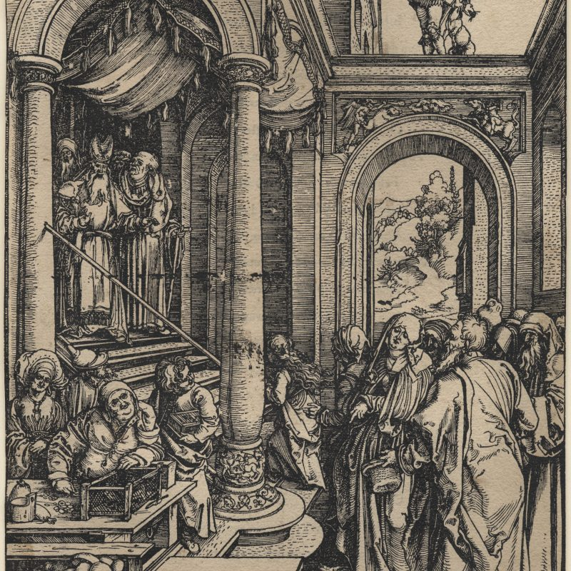 "Albrecht Durer ""Presentation of the Virgin in the Temple (The Life of the Virgin)"""