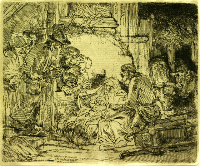 "Rembrandt ""The Adoration of the Shepherds with the Lamp (II/II)"""
