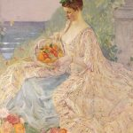 Frederick Carl Frieseke, Woman with Flower Basket, 1904-1097