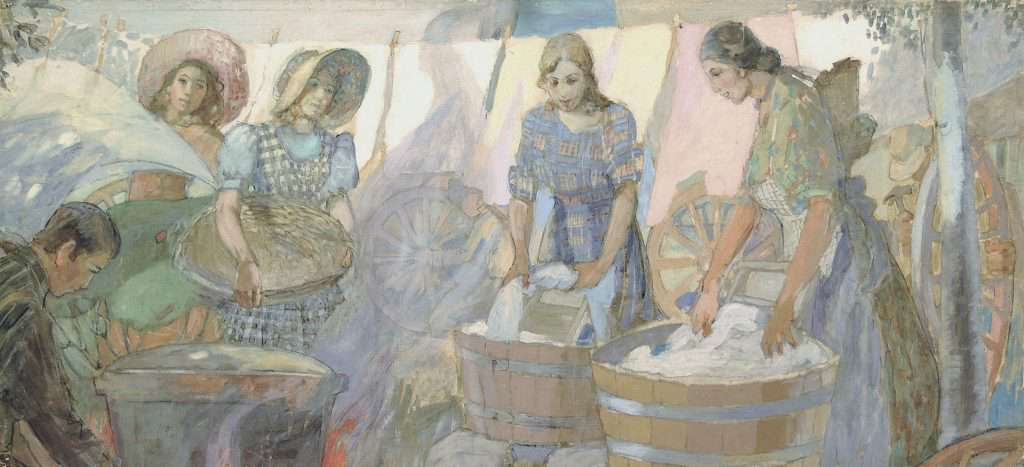 Minerva Teichert, Washday on the Plains