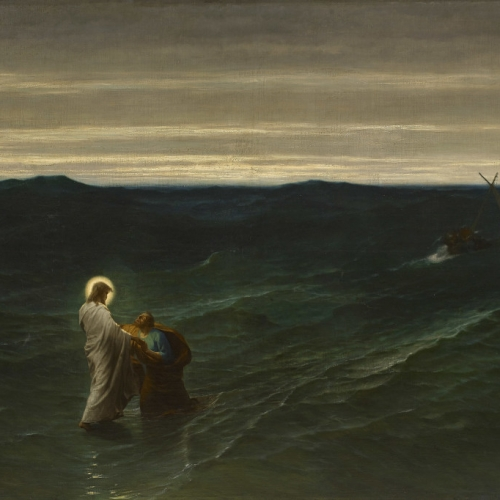 Jesus and Peter on the Water by Gustave Brion