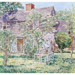 """Childe Hassam, """"Old Mulford House East Hampton"""""""