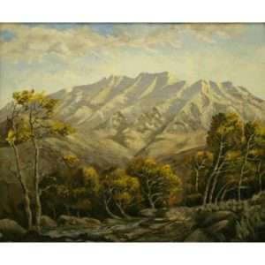 "Edgar M. Jenson, ""Autumn Morning Mountain Timpanogos"""
