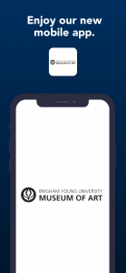 image of iPhone with the home page of the BYU mobile app on its screen