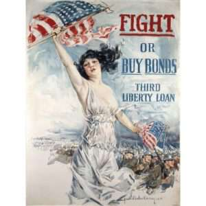"""Howard Chandler Christy, """"Fight or Buy Bonds, Third Liberty Loan"""""""