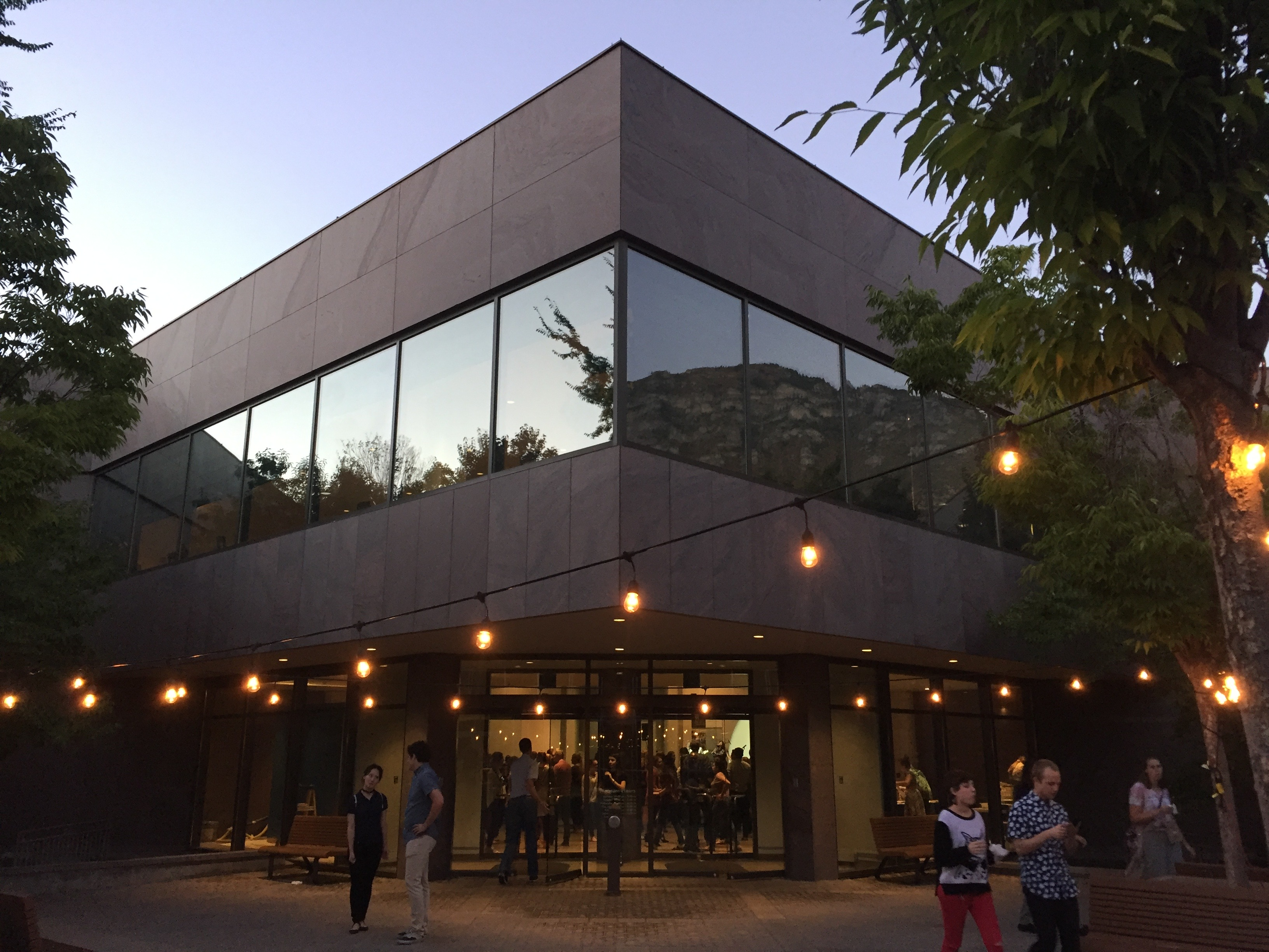 museum at dusk