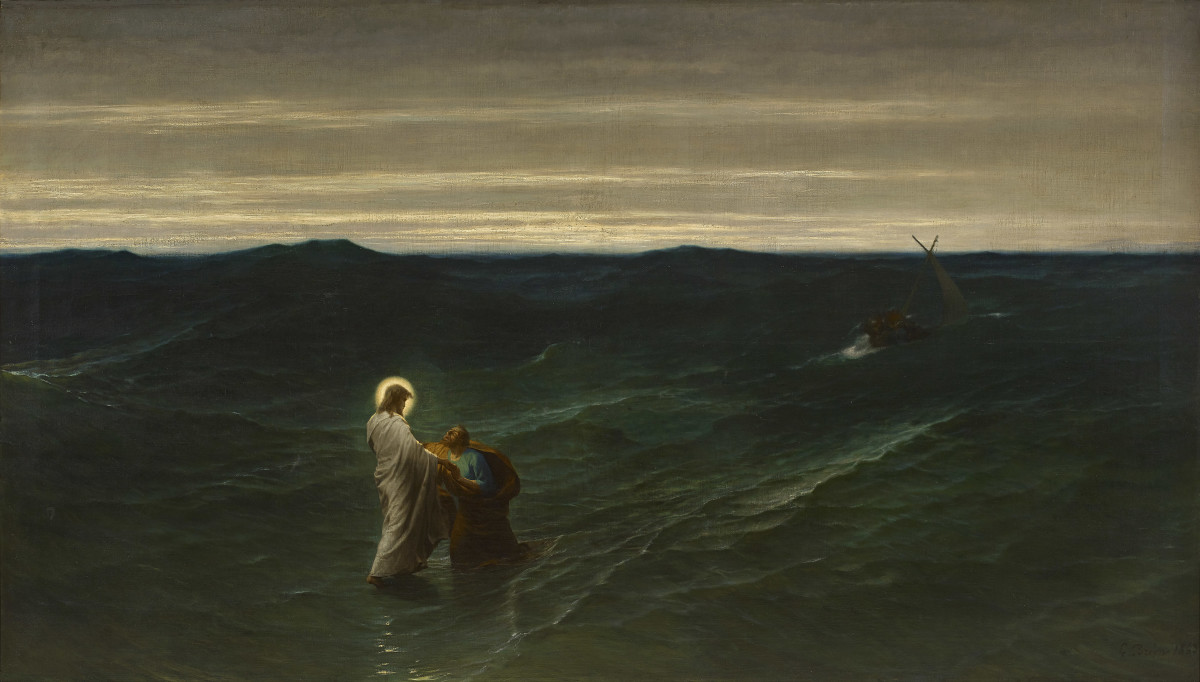 "Jesus and Peter on the Water"", Gustave Brion (1863) – BYU Museum of Art"