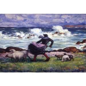 """Mahonri Young, """"Ouessant Shepherdess"""""""