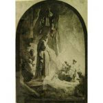 """Rembrandt, """"The Raising of Lazarus, Large Plate, xiii/xiii"""
