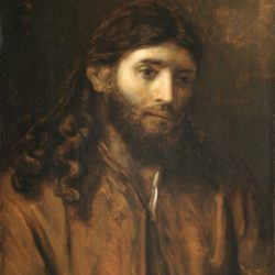 "Rembrandt, ""Head of Christ"""