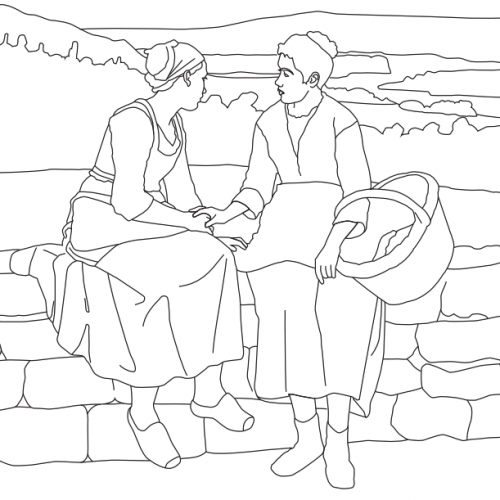 Coloring Page, First Grief