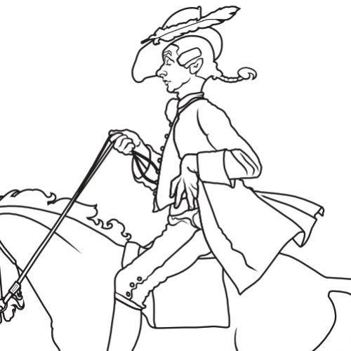 Coloring page, Norman Rockwell, Yankee Doodle