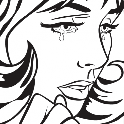 Coloring Pages, Lichtenstein girl