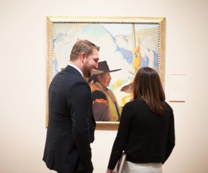 couple at art museum