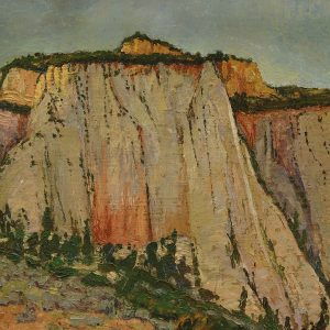 "Mabel Pearl Frazer, ""Grey Cliffs of Utah,"" c.1935, painting"